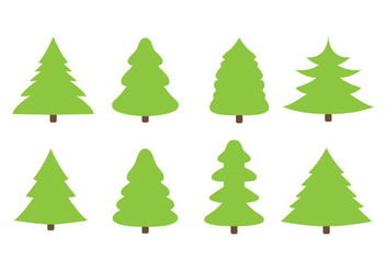 Free Flat Christmas Trees Vector - бесплатный vector #327083