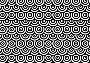 Black And White Dots Circles Pattren - Kostenloses vector #327143