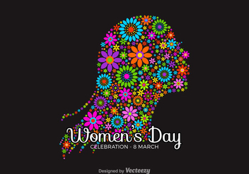 Free Women's Day Vector Background - Free vector #327423