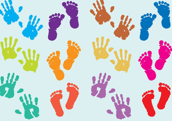 Baby Print Vectors - Free vector #327543