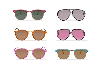 Oldschool sunglasses vectors - Free vector #327943