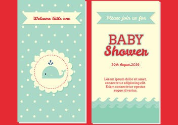 Baby Shower Invitation Vector - vector gratuit #327963
