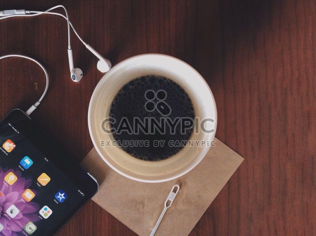 Cup of coffee and tablet computer - Free image #328183