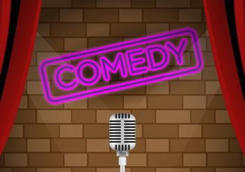 Vector Comedy Club Stage - vector #328223 gratis