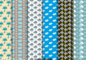 Weather seamless patterns - Free vector #328233