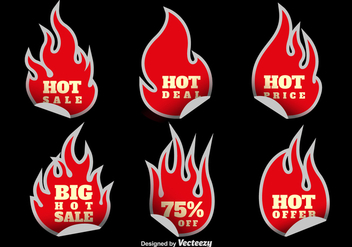 Hot sale stickers - Free vector #328263