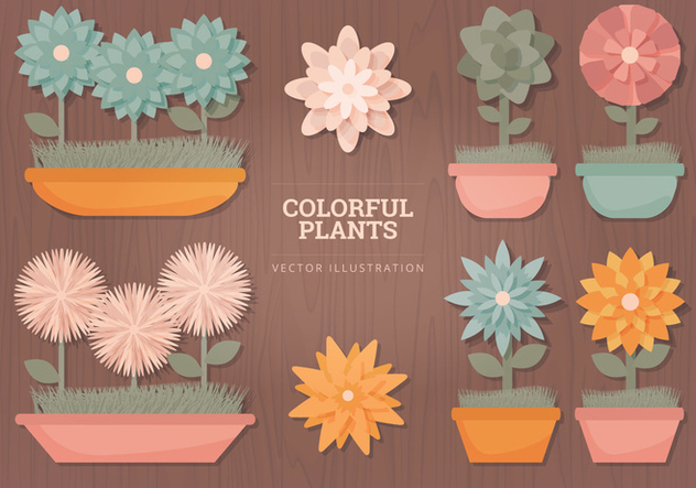 Flowers Vector Illustrations - vector gratuit #328323