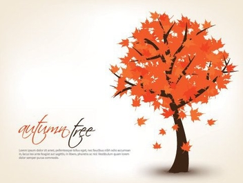 Autumn Tree Seasonal Background - vector gratuit #328393