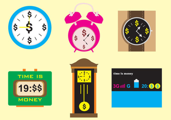 Time is Money Watches & Clocks - Free vector #328673