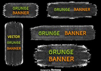 Grunge banner vectors - Free vector #328833