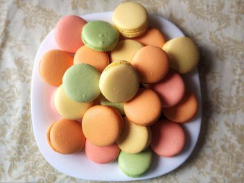 Close-up of colorful macaroons - Free image #329083