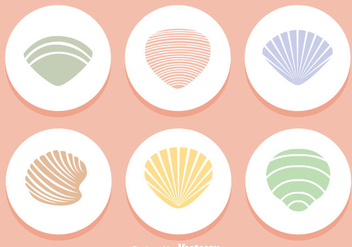Shells Colors Icons - vector gratuit #329343