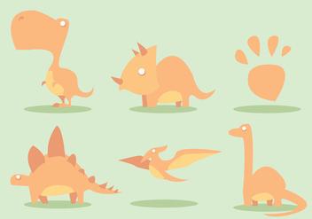 Dinosaur Vector Set - Kostenloses vector #329473