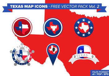 Texas Map Icons Free Vector Pack - Free vector #329533