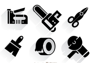 Work Construction Tool Vectors - vector gratuit #329553