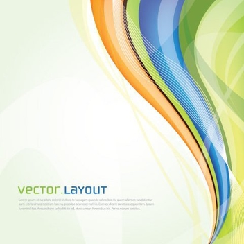 Colorful Waves Lines Background - Free vector #329583