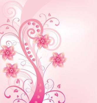 Swirling Pinky Plant Background - vector gratuit(e) #329613
