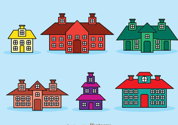 Townhomes Isolated - vector gratuit #329713