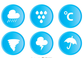Weather Circle Icons - Free vector #329723