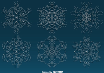 White thin snowflakes - vector #329773 gratis