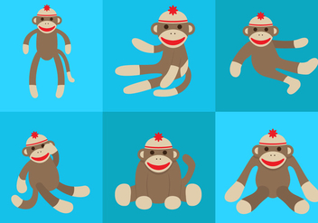 Vector Sock Monkey - vector gratuit #330523