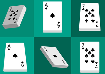 Deck of Cards Isolated - vector gratuit #330533