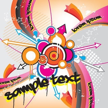Vortex Explosion Colorful Music Poster - Free vector #330633