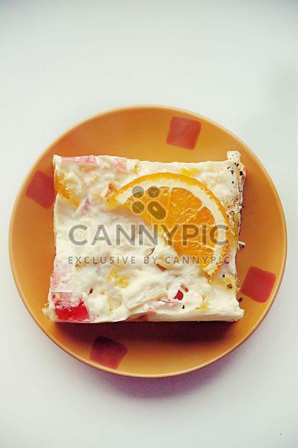 Morceau de gâteau orange - image gratuit #330723
