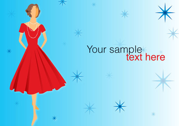 Retro Dress Posing - Kostenloses vector #330793