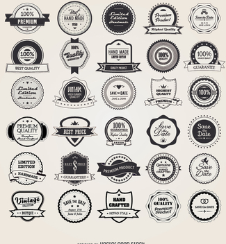 25 retro vintage badges and labels - Free vector #330813