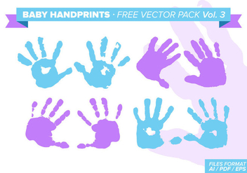 Baby Handprints Free Vector Pack Vol. 3 - Free vector #331073