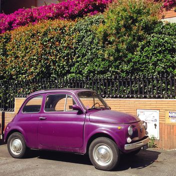 Violet Fiat 500 car - image #331283 gratis