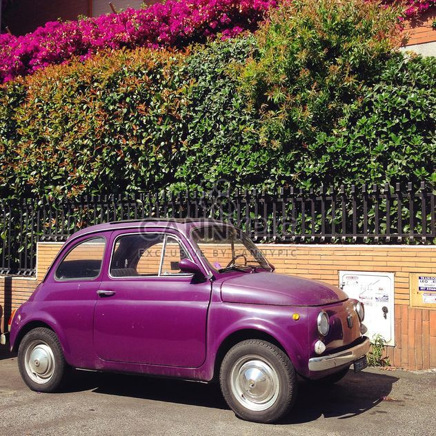 Violet Fiat 500 car - Free image #331283