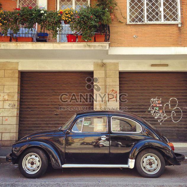 Жук Volkswagen черный - бесплатный image #331333