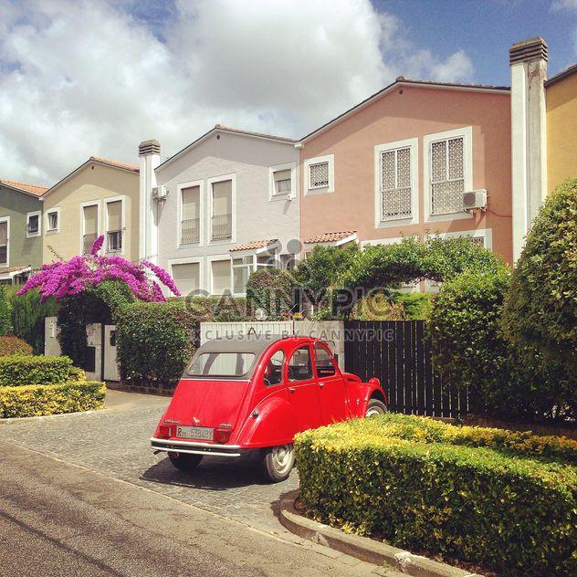 Красный Citroen 2cv автомобиль - бесплатный image #331353