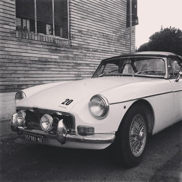 Retro white car - Free image #331543