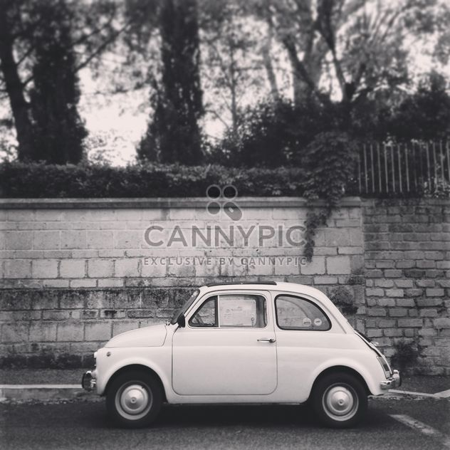 Fiat 500, black and white - Free image #331713
