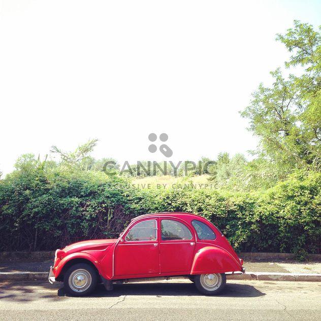Rot-Citroen Auto - Kostenloses image #331903