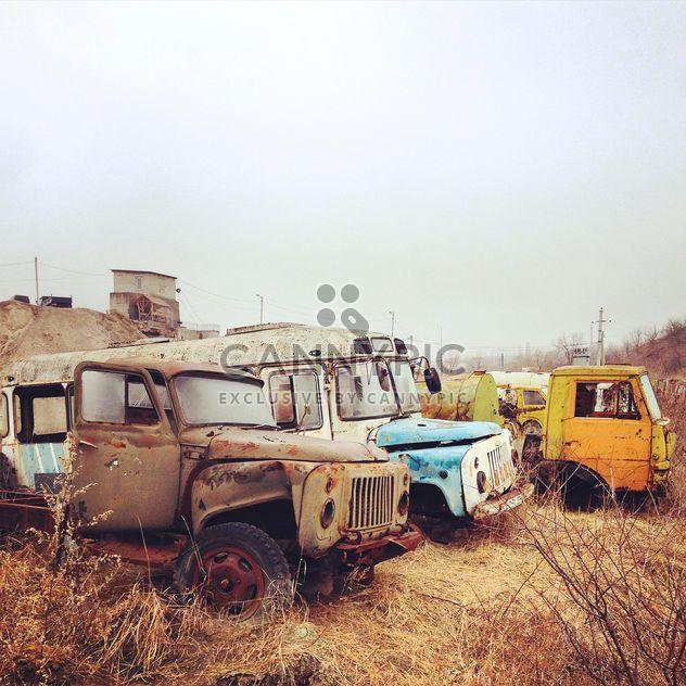 Abandoned crashed cars - Free image #332113