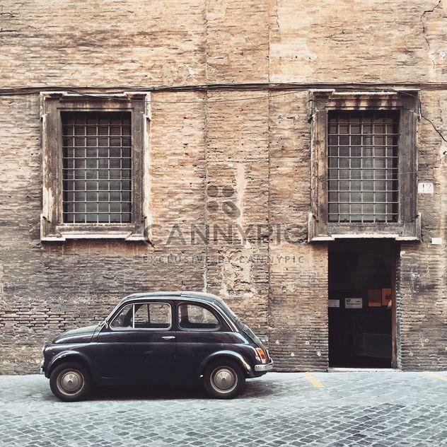 Старый черный Fiat 500 - бесплатный image #332343