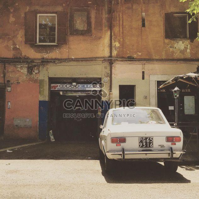 Old white Fiat car - Free image #332363