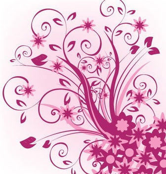 Violet Swirling Corner Decoration - vector gratuit #332473