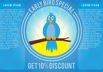 Early Bird Promotion Vector - Free vector #332603