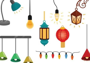 Free Hanging Lights Vectors - Free vector #332623