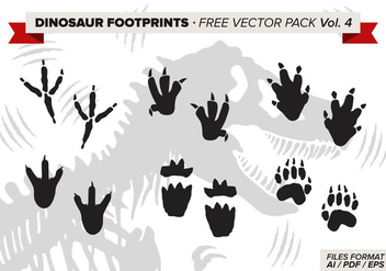 Dinosaur Footprints Free Vector Pack Vol. 4 - Free vector #332643