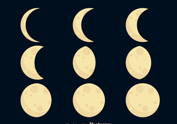 Moon Phases Icons - vector #333043 gratis