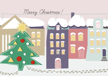 Free Hand Drawn Christmas Background Illustration - Free vector #333063