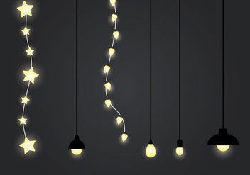 Free Hanging Light Vector Illustration - Free vector #333323