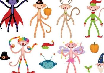Free Holiday Monkey Vectors - vector #333333 gratis