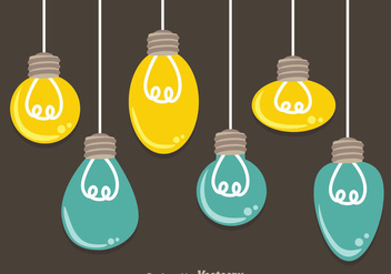 Hanging Bulbs - vector gratuit #333823